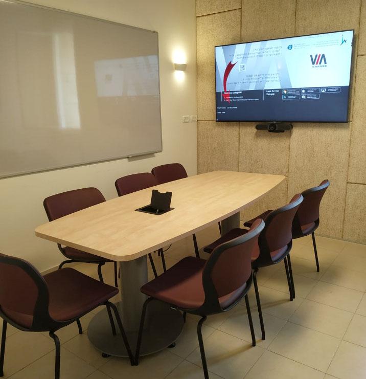 חדר ישיבות וידאו קונפרנס – האוניברסיטה העברית ירושלים